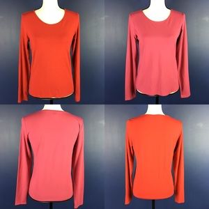 Lot of 2 Eileen Fisher Viscose Stretch Tops